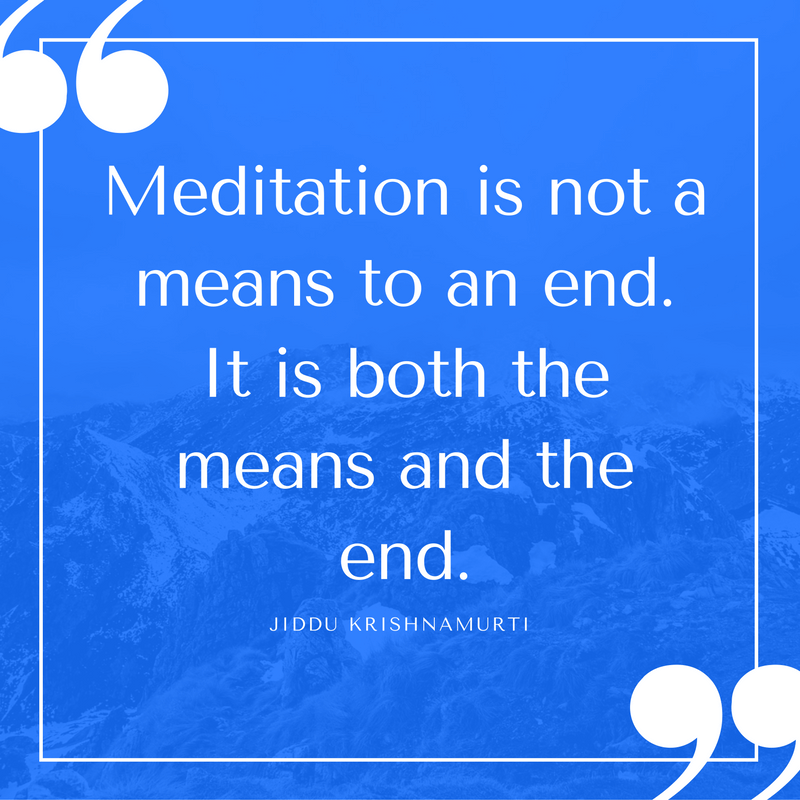krishnamurti meditation quotes