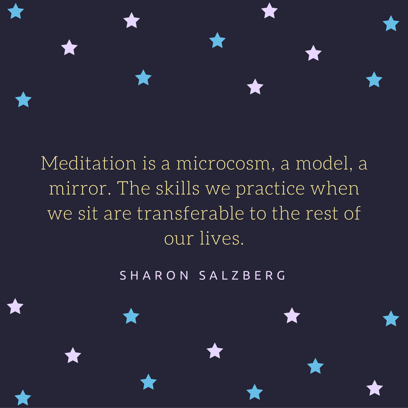 sharon salzberg meditation quote
